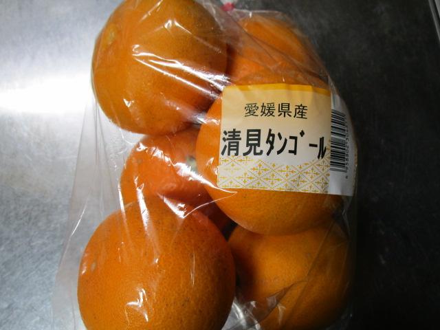 オレンジ?みかん?清見タンゴール食べたよ